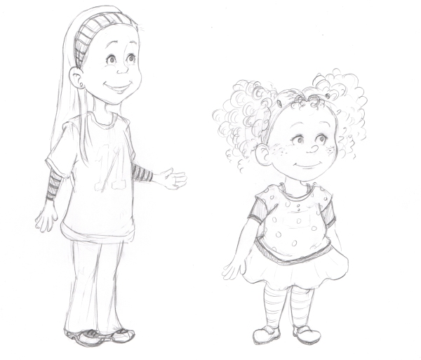 Syd and Sunny Character Sketches3